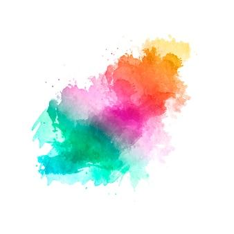 Leuke handgemaakte borstel met de kleuren van de regenboog