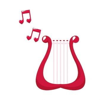 Leuke harp mooie notenmuziek