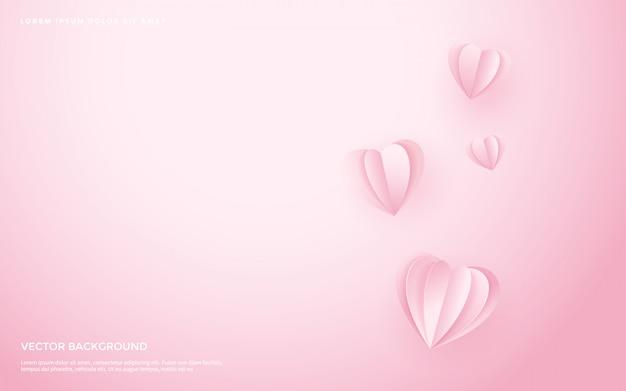 Leuke hart patroon achtergrond.