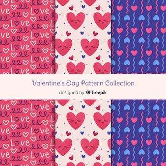 Leuke harten valentijn patroon collectie