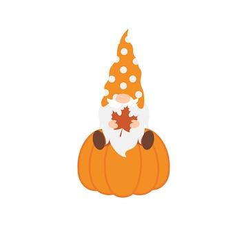 Leuke herfstkabouters vectorillustratie op wit