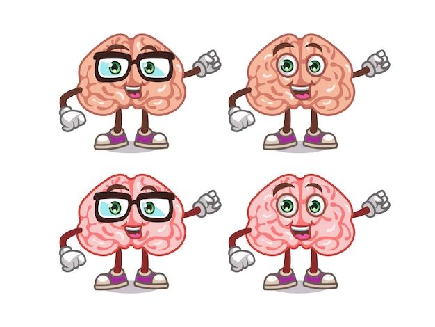 Leuke hersenen cartoon mascotte