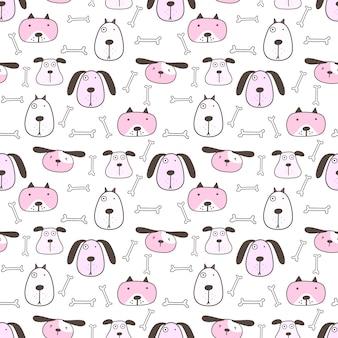 Leuke hond naadloos patroon
