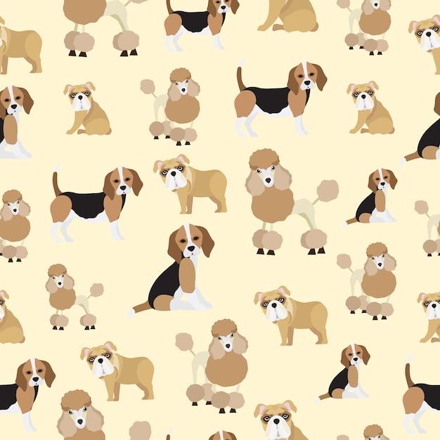 Leuke hond naadloze patroon