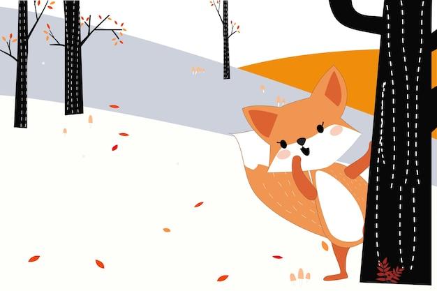 Leuke hond of vos in het bos van het de lentensumer