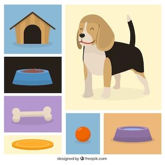 Leuke hond pictogrammen