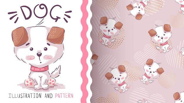 Leuke hondenstoel - naadloos patroon