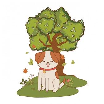 Leuke huisdier cartoon afbeelding