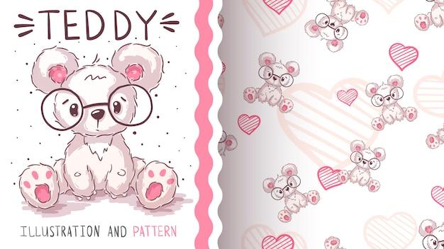 Leuke ijsbeer - naadloos patroon