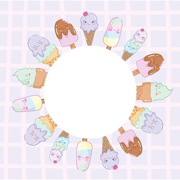 Leuke ijsjes ronde badge