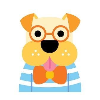 Leuke illustratie van de hond.
