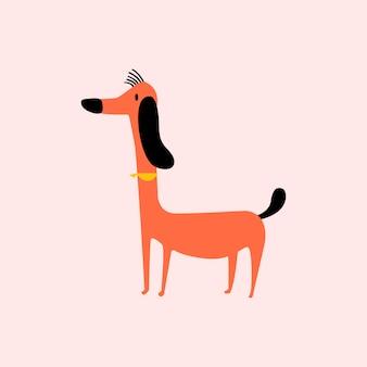 Leuke illustratie van een hond