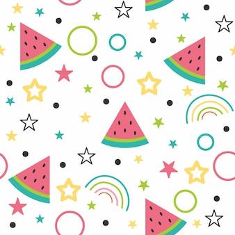 Leuke illustratie van het watermeloenpatroon