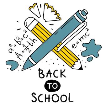 Leuke illustratie voor terug naar school