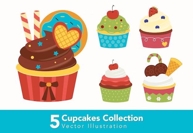 Leuke ingerichte cupcakes-collectie