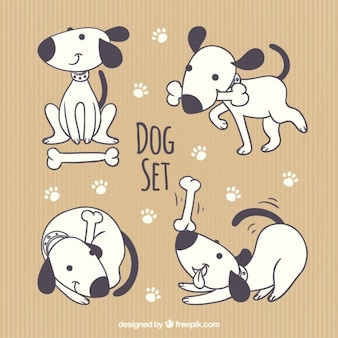 Leuke inzameling van de hond
