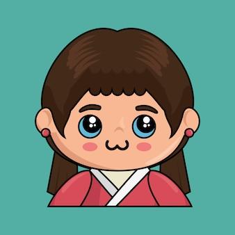 Leuke japanse doll-kawaiistijl