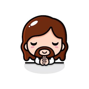 Leuke jezus christus bidt