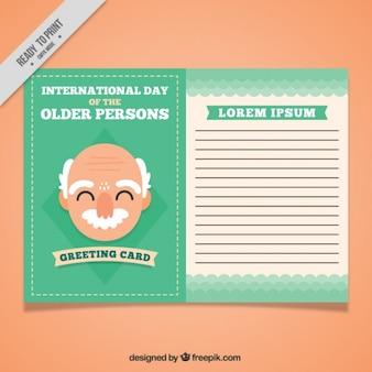 Leuke kaart sjabloon van de oudere persoon dag