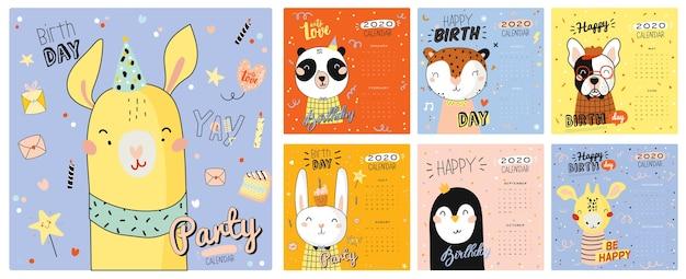 Leuke kalender. jaarlijkse planner kalender hebben alle maanden. goede organisator en schema