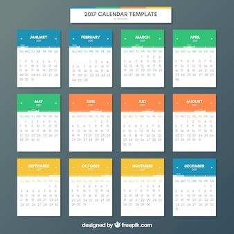Leuke kalender van de kleuren van 2017