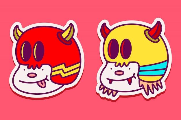Leuke karakter sticker sjabloon