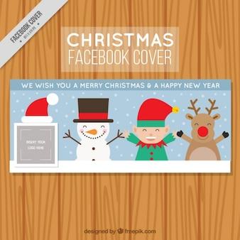 Leuke karakters facebook cover van kerst