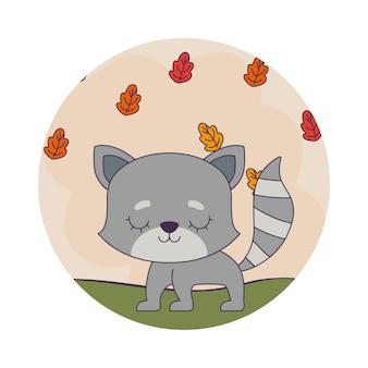 Leuke kat met bladeren natuur