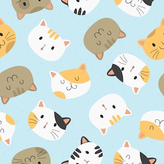 Leuke katten naadloos patroon.