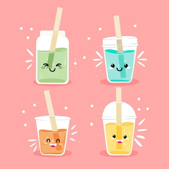 Leuke kawaii bubble tea