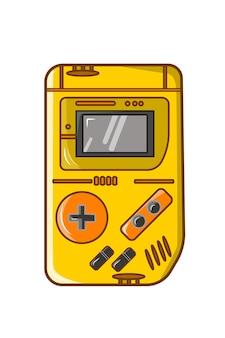 Leuke kawaii nintendo game boy console vectorillustratie.
