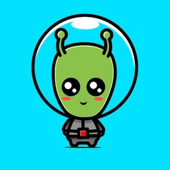 Leuke kawaii-ontwerpen van buitenaardse karakters