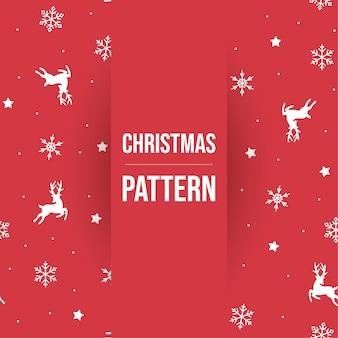 Leuke kerst elementen patroon gratis vector