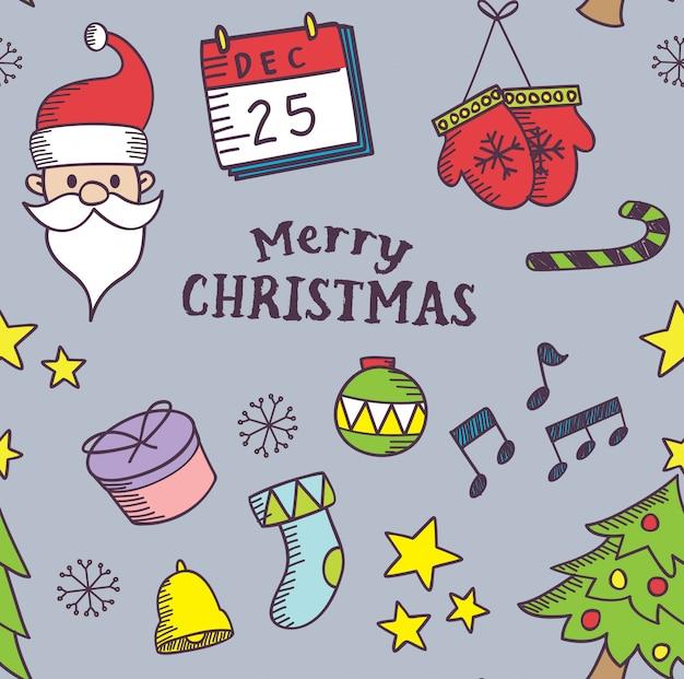 Leuke kerst naadloze achtergrond