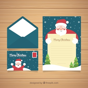 Leuke kerstkaart met envelop
