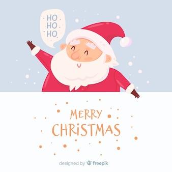 Leuke kerstman achtergrond
