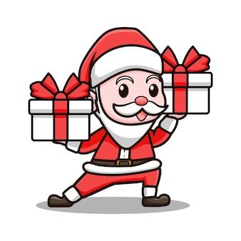 Leuke kerstman ontwerp illustratie