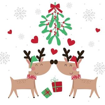 Leuke kerstman op decoratieve teksthulst heel met rode en groene kleur