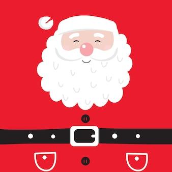 Leuke kerstman op rode achtergrond