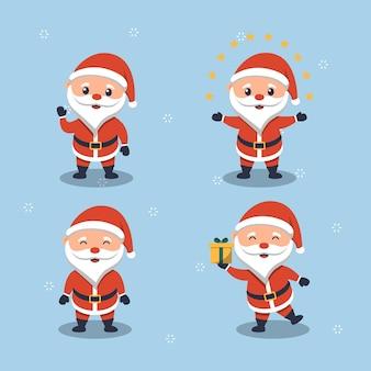 Leuke kerstman plat ontwerp