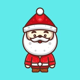 Leuke kerstman voor karaktersticker en illustratie