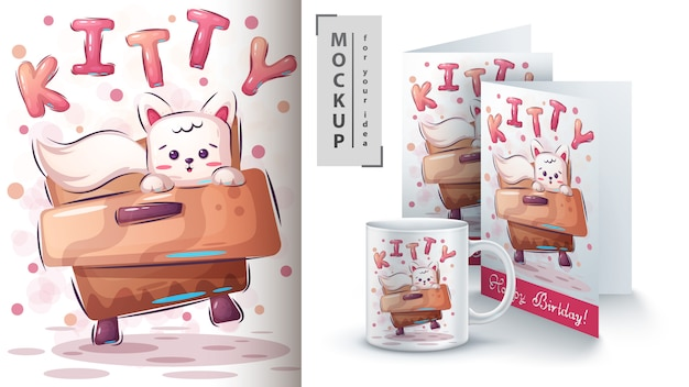 Leuke kitty poster en merchandising