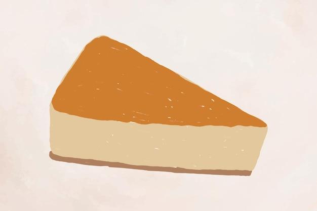 Leuke klassieke cheesecake-element vector handgetekende stijl
