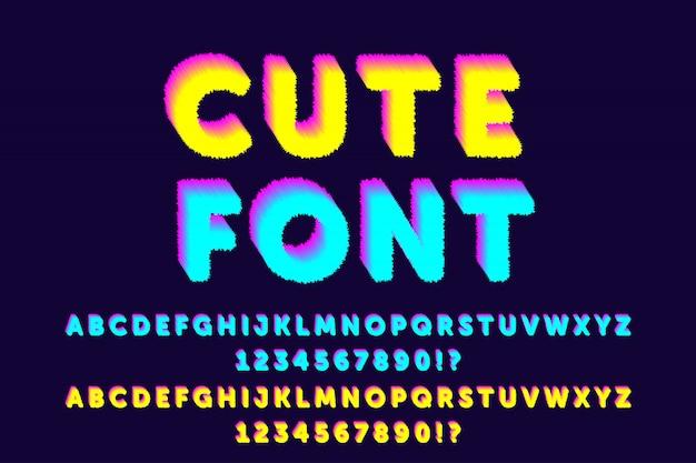Leuke kleur alfabetten lettertypen