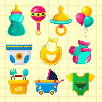 Leuke kleurrijke babyspullenset