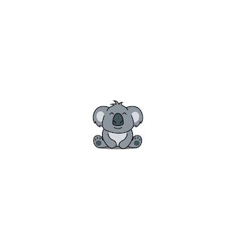 Leuke koala cartoon zitten, vectorillustratie