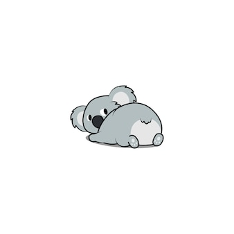 Leuke koala liggen en terugkijken
