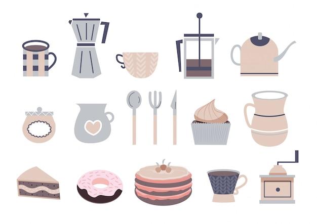 Leuke koffie pictogrammen
