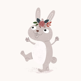 Leuke konijn illustratie