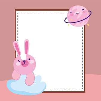 Leuke konijn lege banner
